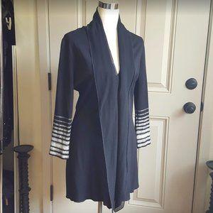 Isabel De Pedro Zip chiffon collar cardigan jacket